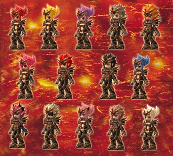 Top Reward untuk 11th Gacha saat ini adalah: Rexion The Fire Ruler .