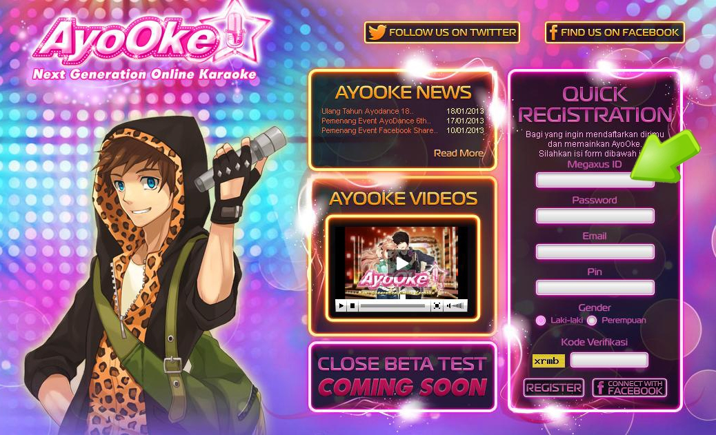 AyoOke Quick Registration